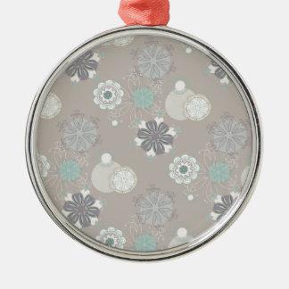 Retro Wedding Customizable Pattern Metal Ornament
