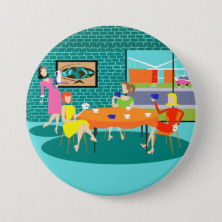 Retro Weekly Women's Card Game Button