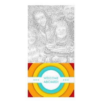 retro welcome aboard card