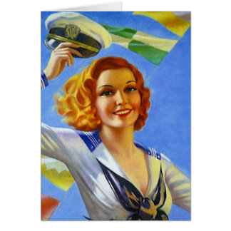 Retro Welcome Home Happy cruise travel good trip Card