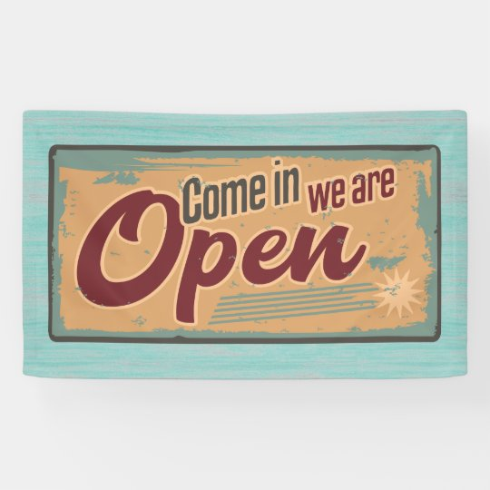Retro Welcome Sign Open for Business | Zazzle.com