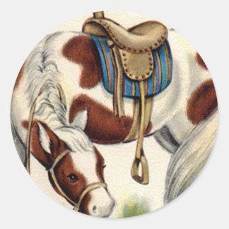 Retro Western Pony Fun Stickers