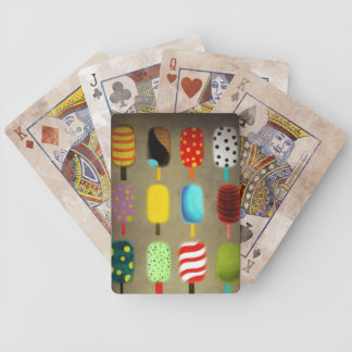 Retro whimsical polka dots pattern bicycle playing cards