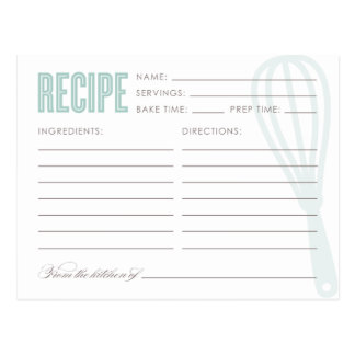 RETRO WHISK | RECIPE CARDS