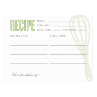 RETRO WHISK | RECIPE CARDS POST CARDS