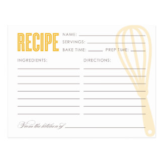 RETRO WHISK | RECIPE CARDS POSTCARD