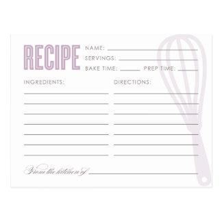 RETRO WHISK | RECIPE CARDS POSTCARDS