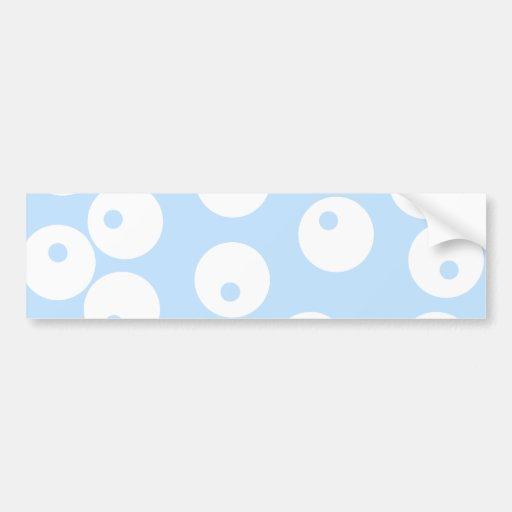 Retro white and light blue pattern. bumper stickers