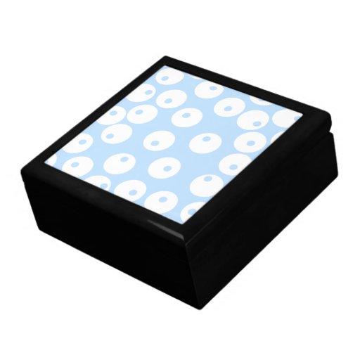 Retro white and light blue pattern. gift box