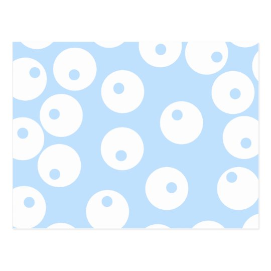 Retro white and light blue pattern. postcard