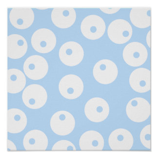 Retro white and light blue pattern. poster