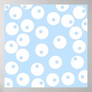 Retro white and light blue pattern. print