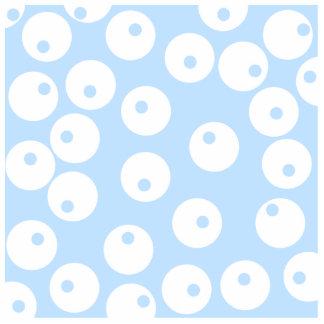 Retro white and light blue pattern. statuette
