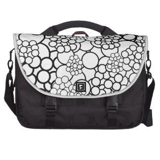 Retro White Black Polka Dots Laptop Bag