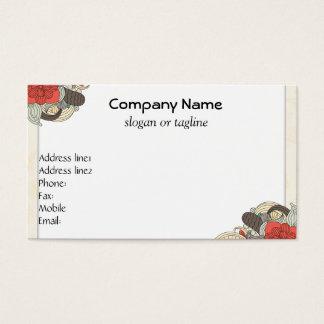 Retro White Business Cards