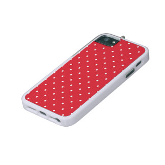 Retro white polka dots on red background cover for iPhone 5