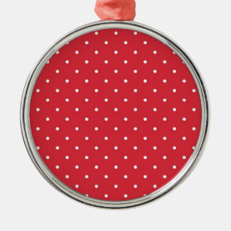 Retro white polka dots on red background ornaments
