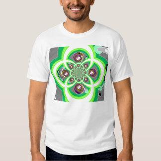 Retro white purple and green turntable tshirts