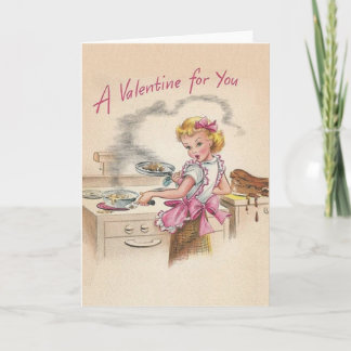 Retro Wife Valentine's Day Card
