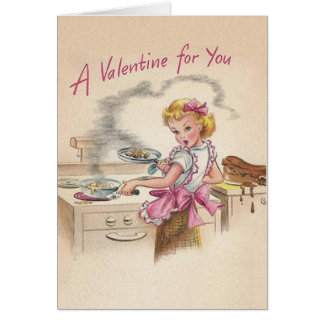 Retro Wife Valentine's Day Card
