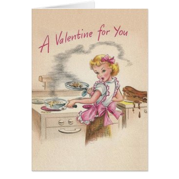 RetroMagicShop Retro Wife Valentine's Day Card