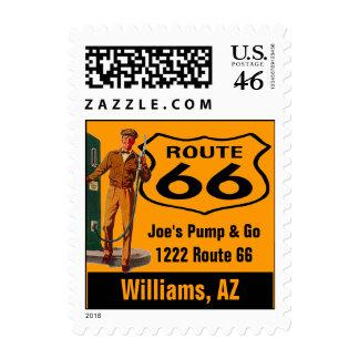 Retro Williams Arizona Travel Gas Route 66 Vintage Postage Stamps