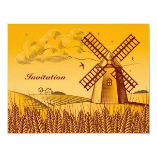 Retro Windmill Card