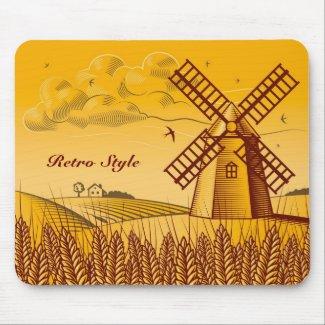 Retro Windmill mousepad