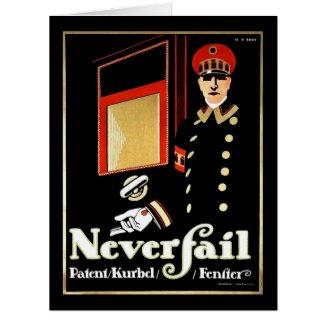 Retro Window Ad 1911 Card