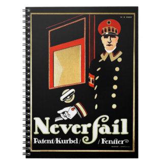 Retro Window Ad 1911 Notebook