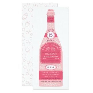 Retro Wine Bottle Bridal Shower Invitation