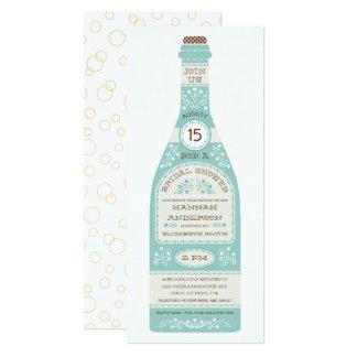 Retro Wine Bottle Bridal Shower Invitation II