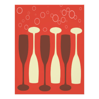 Retro wine glass design flyer