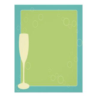 Retro wine glass menu template