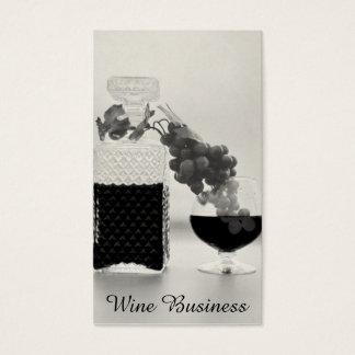 Retro Wine Still Life, Glassware Black & White Business Card