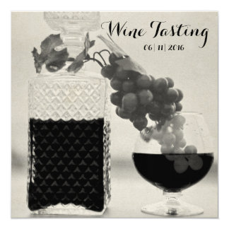 Retro Wine Tasting, Crafted Connoisseur Aged Card