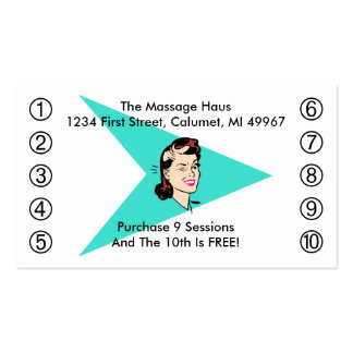 Retro Wink Business Punch Cards Any business Double-Sided Standard Business Cards (Pack Of 100)