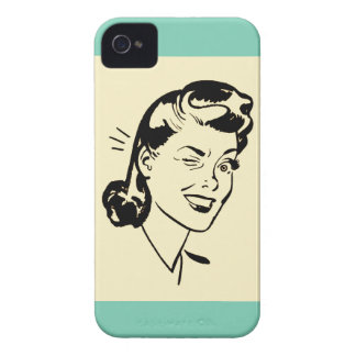 Retro Wink iPhone Case