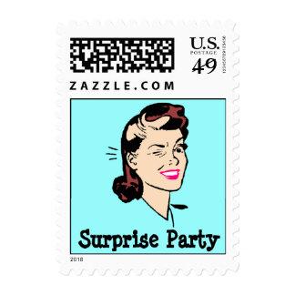 Retro Wink Secrets or Surprise party Postage Stamp
