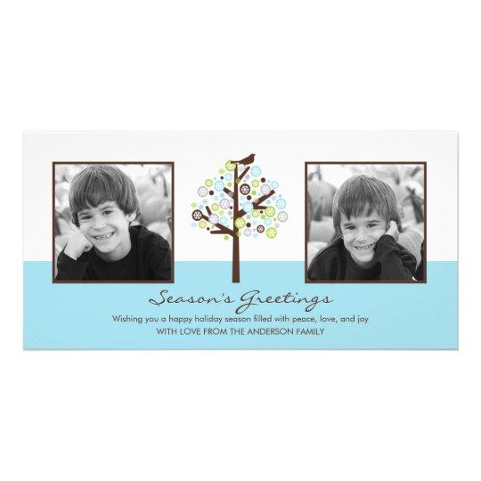Retro Winter Holiday Photo Card