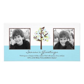 Retro Winter Holiday Photo Card Custom Photo Card