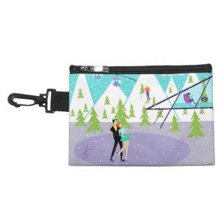 Retro Winter Ski Resort Clip-On Accessory Bag