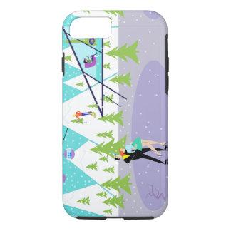Retro Winter Ski Resort iPhone 7 Case