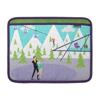 Retro Winter Ski Resort MacBook Air Sleeve