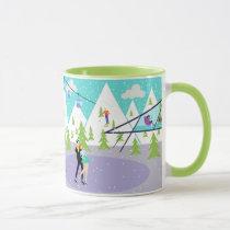 Retro Winter Ski Resort Mug