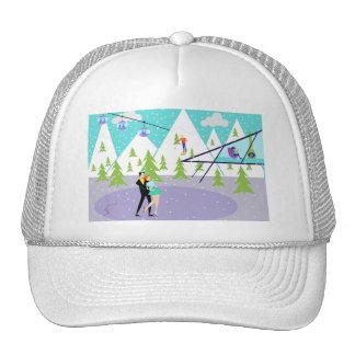 Retro Winter Ski Resort Trucker Hat