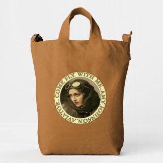 Retro Woman Aviator Baggu Bag