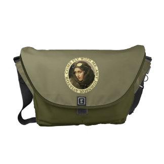 Retro Woman Aviator Courier Bag