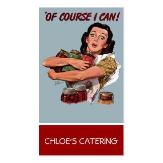 Retro Woman Catering business card