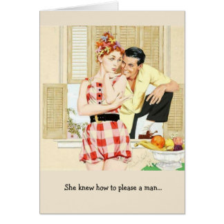 Retro Woman - How to Please a Man, Card